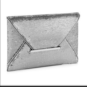 Bcbg sequined clutch